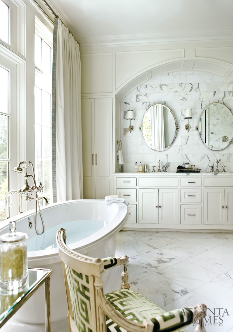 French neoclassical chair featured in atlanta homes and for Beautiful houses interior bathrooms