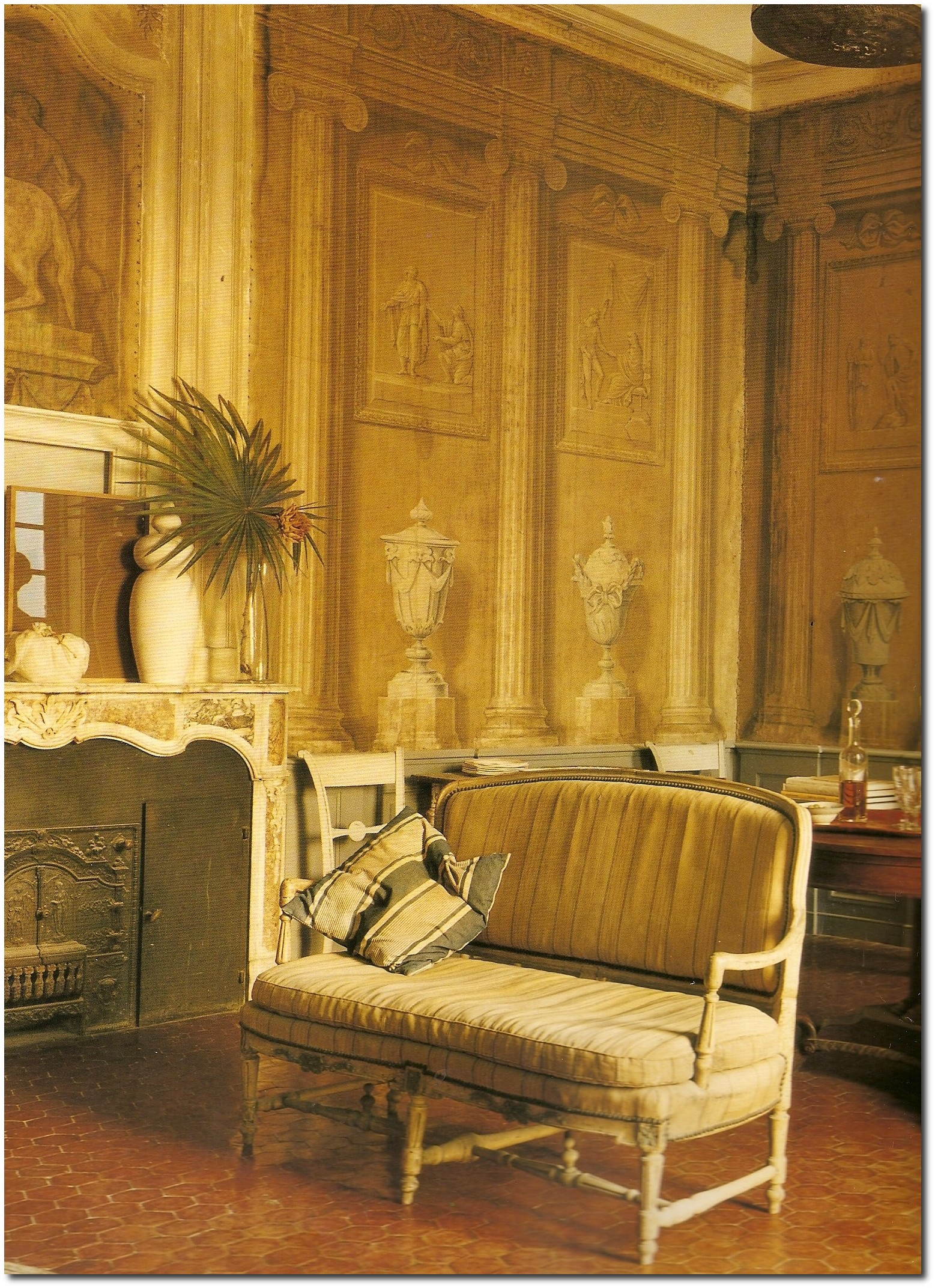 19th Century Drawing Room: Decorating With Dark Brown- French Styling